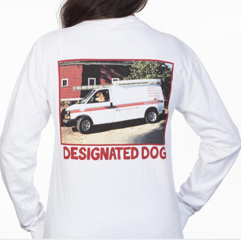 back of designated dog van tshirt long sleeve.