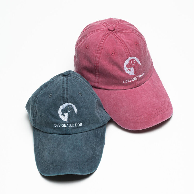 Denim Desiganted Dog baseball caps with logo.
