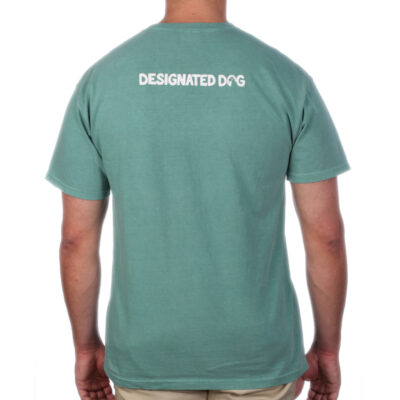 Back of green designated dog logo too.