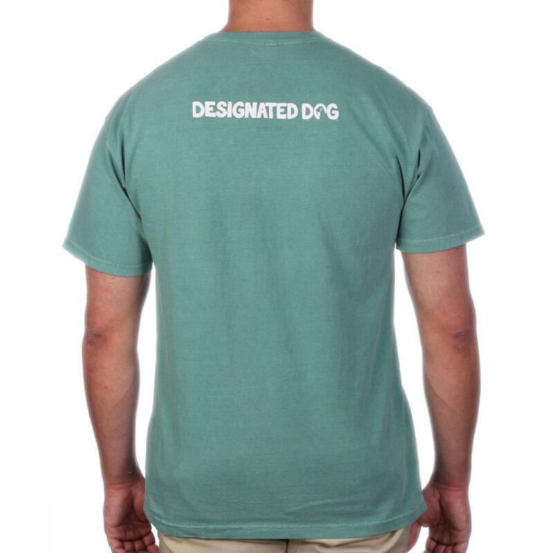 Back of green designated dog logo too.