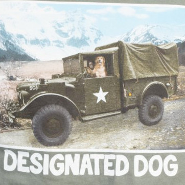 Designated Dog military dog shirt.