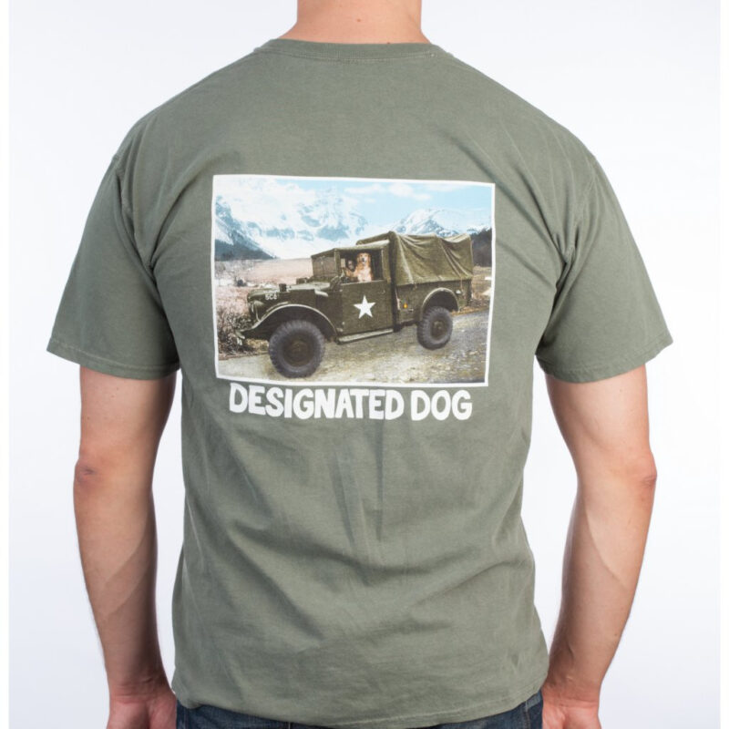 Green Designated Dog military truck tee.