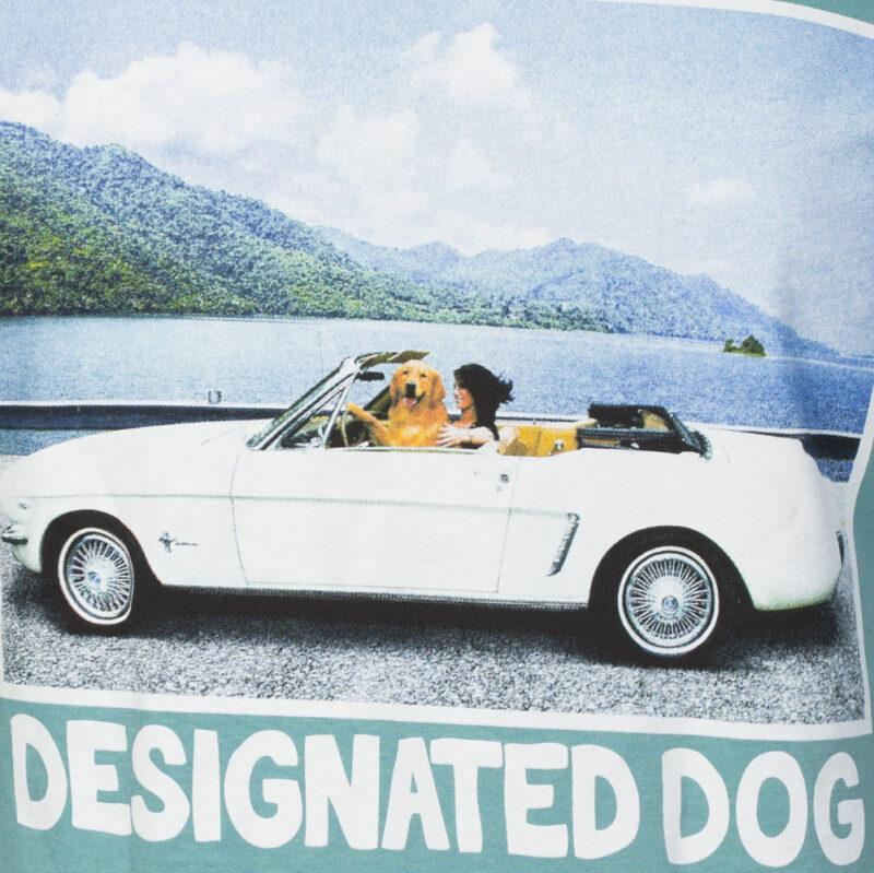 Dog driving mustang convertible tshirt.